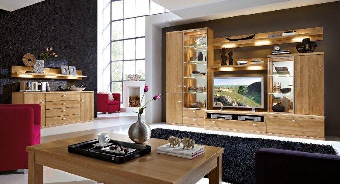 Wohnzimmer m bel kommode wohnwand bei uns kaufen for Wohnwand eiche massiv modern